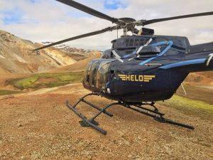 Helicopter at Landmannalaugar