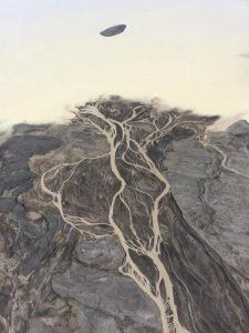 Glacier river from Langjökull glacier