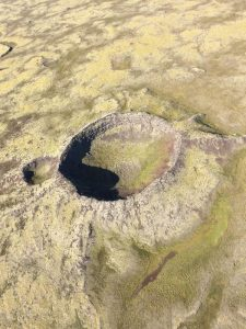 Volcano - crater