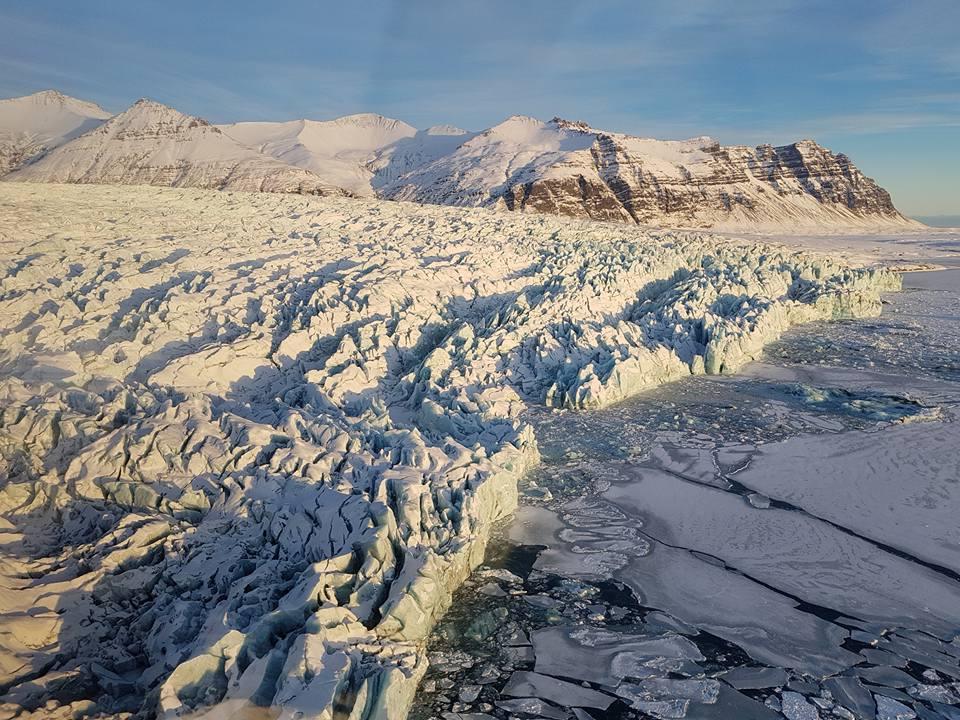Glacier Lagoon in winter